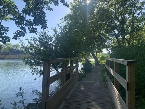 Pont en bois- Bords de la marne- saint maur