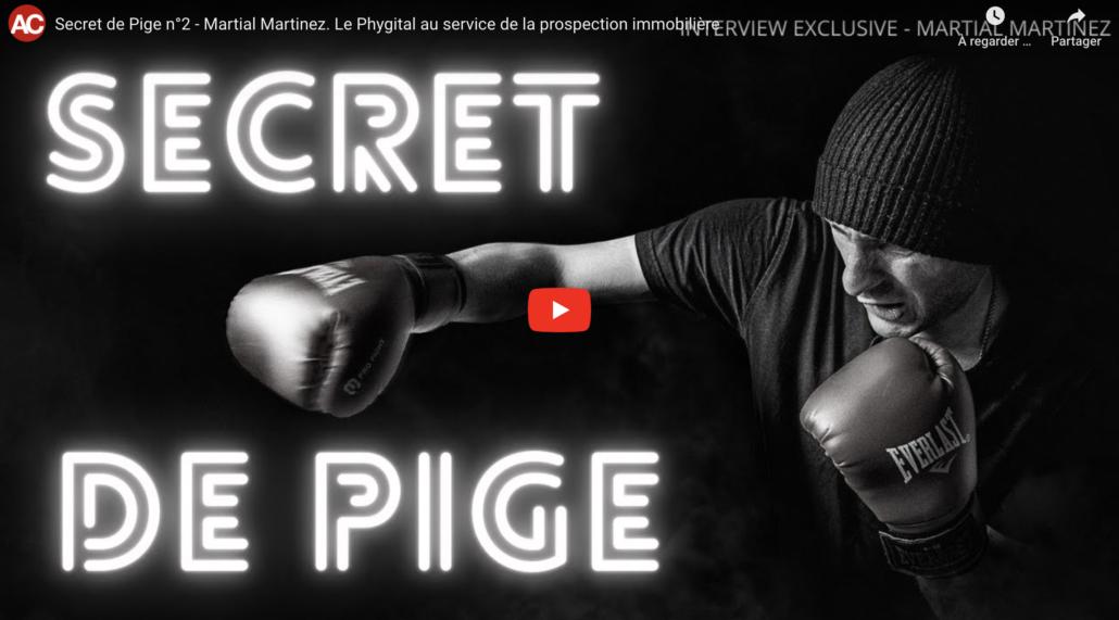 Vidéo Youtube- Pige immobilière et Phygital - Martial Martinez
